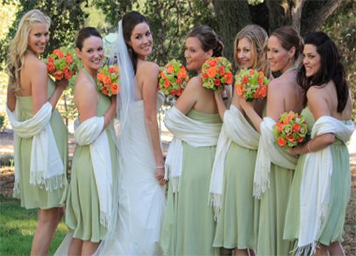 Bridesmaid Gifts, Wedding Pashminas and Bridal Shawls