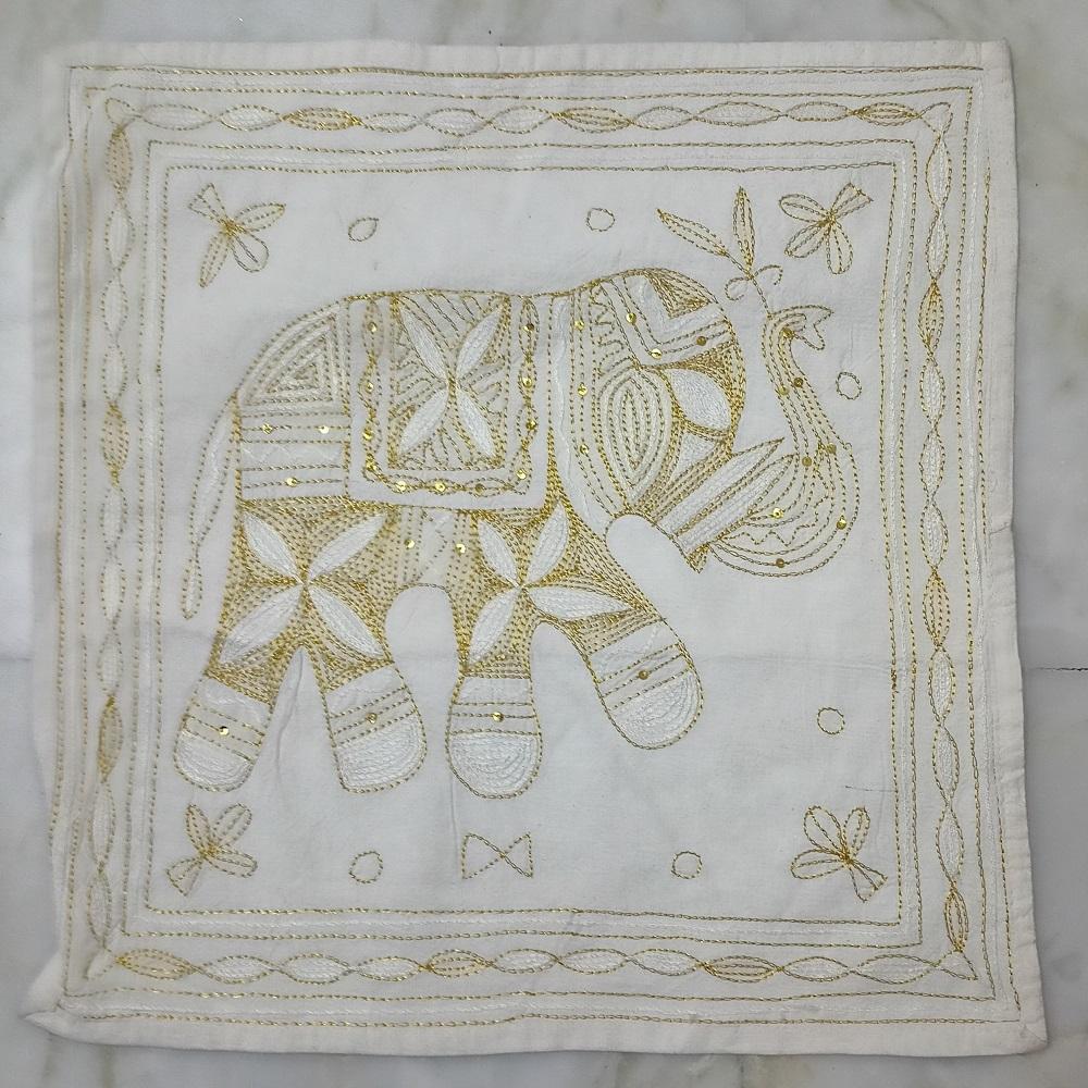 Designer Mirrorwork Cushion Covers Pashmina Golden
