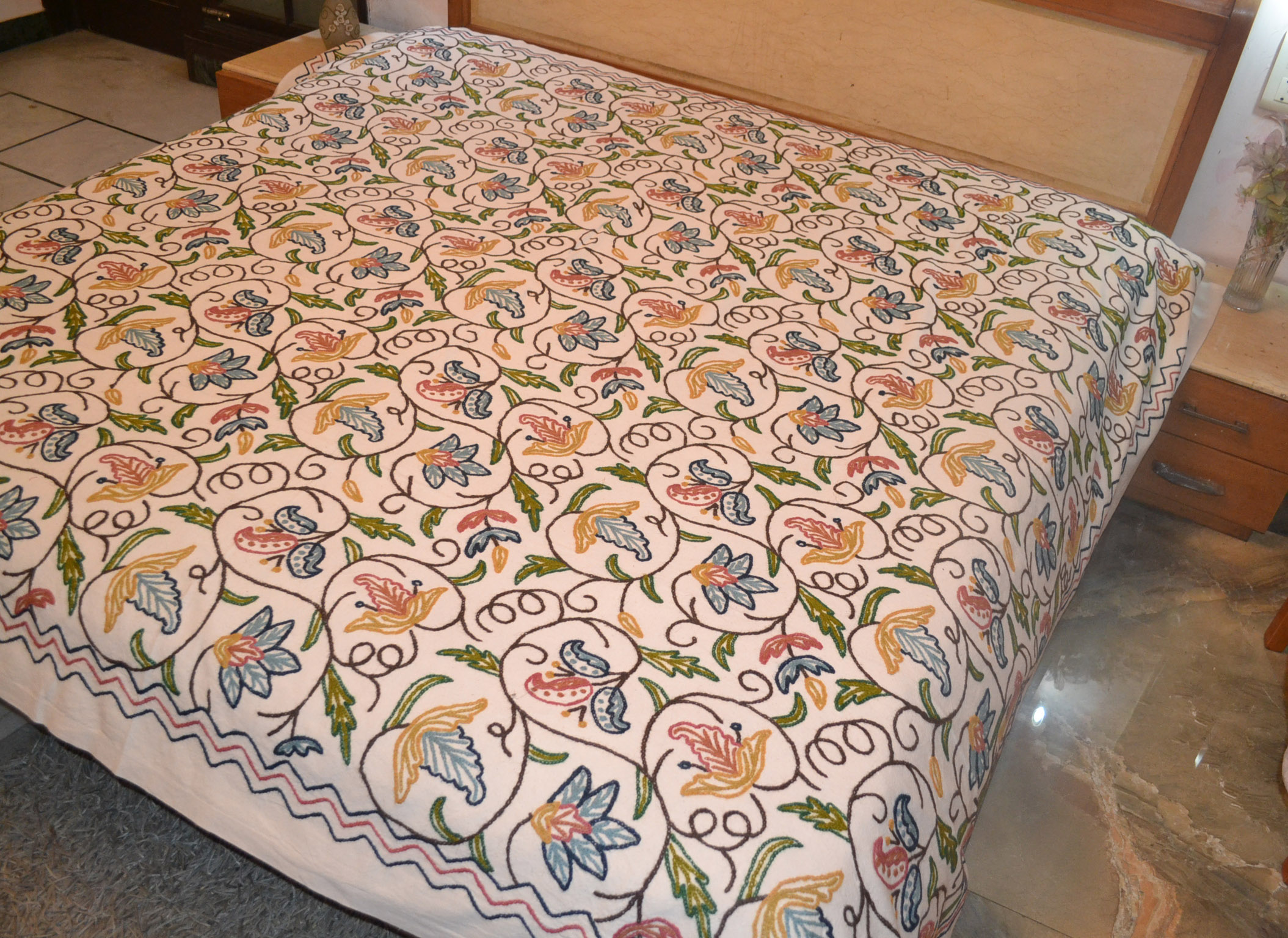 Brazilian embroidery bedspread designs - Design No