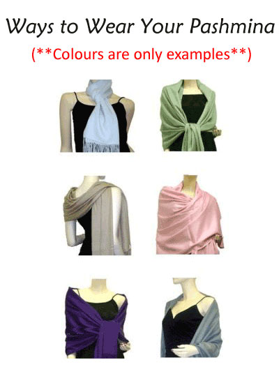 How to Wear Pashmina  Ways to Wear Pashmina Pashmina Scarf How To Wear