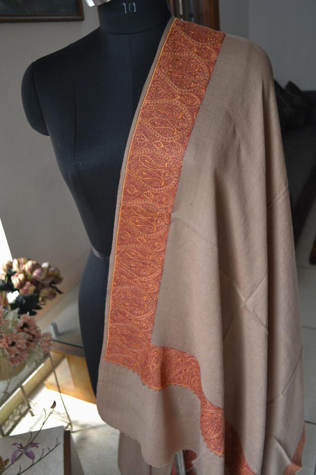 pashmina needlework kashmiri embroidery daur shawls