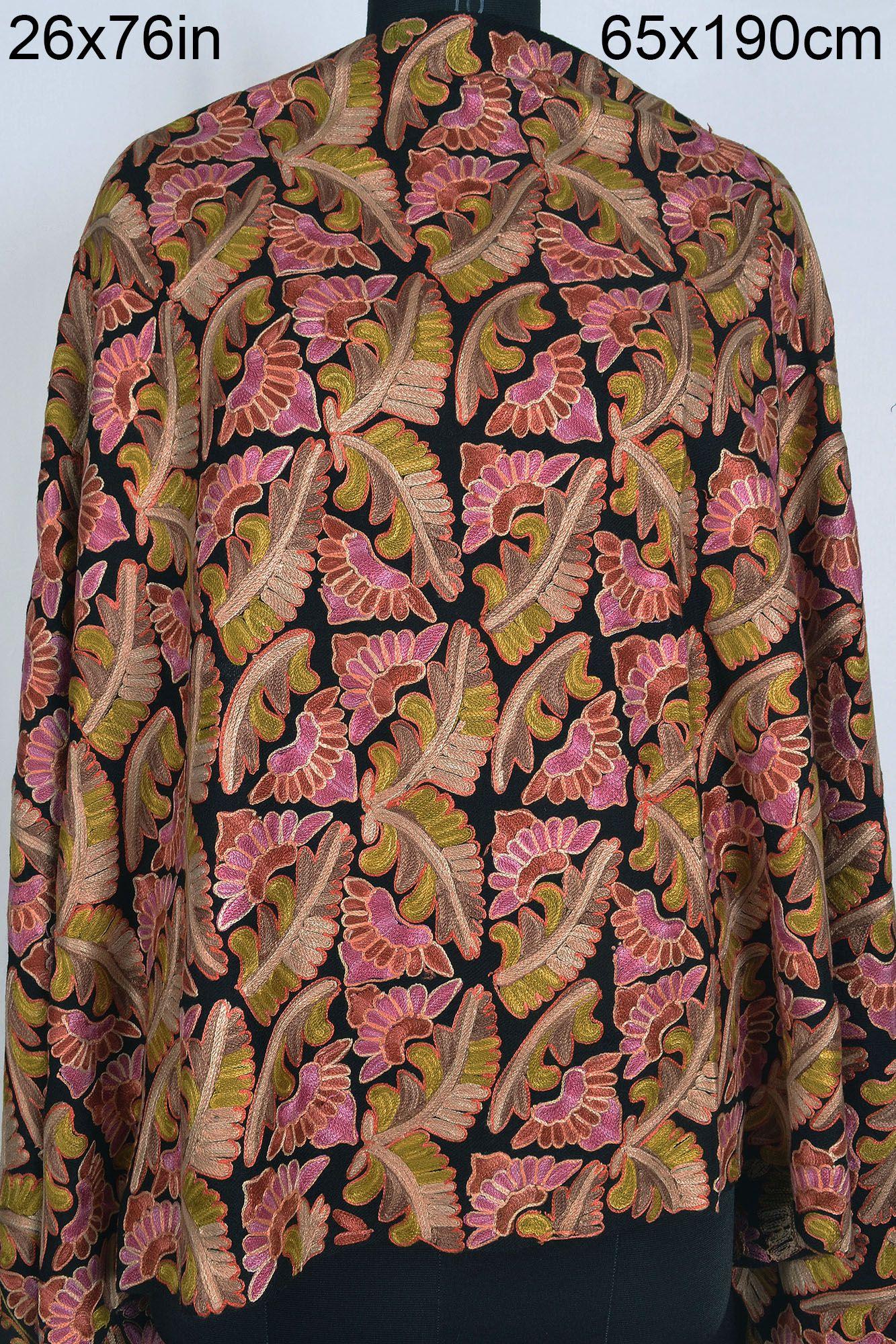 REAL KASHMIRI EMBROIDERED 100 CASHMERE SHAWL CREWEL  : kashmiri embroidered shawl 04b from www.ebay.com size 1690 x 2251 jpeg 1356kB