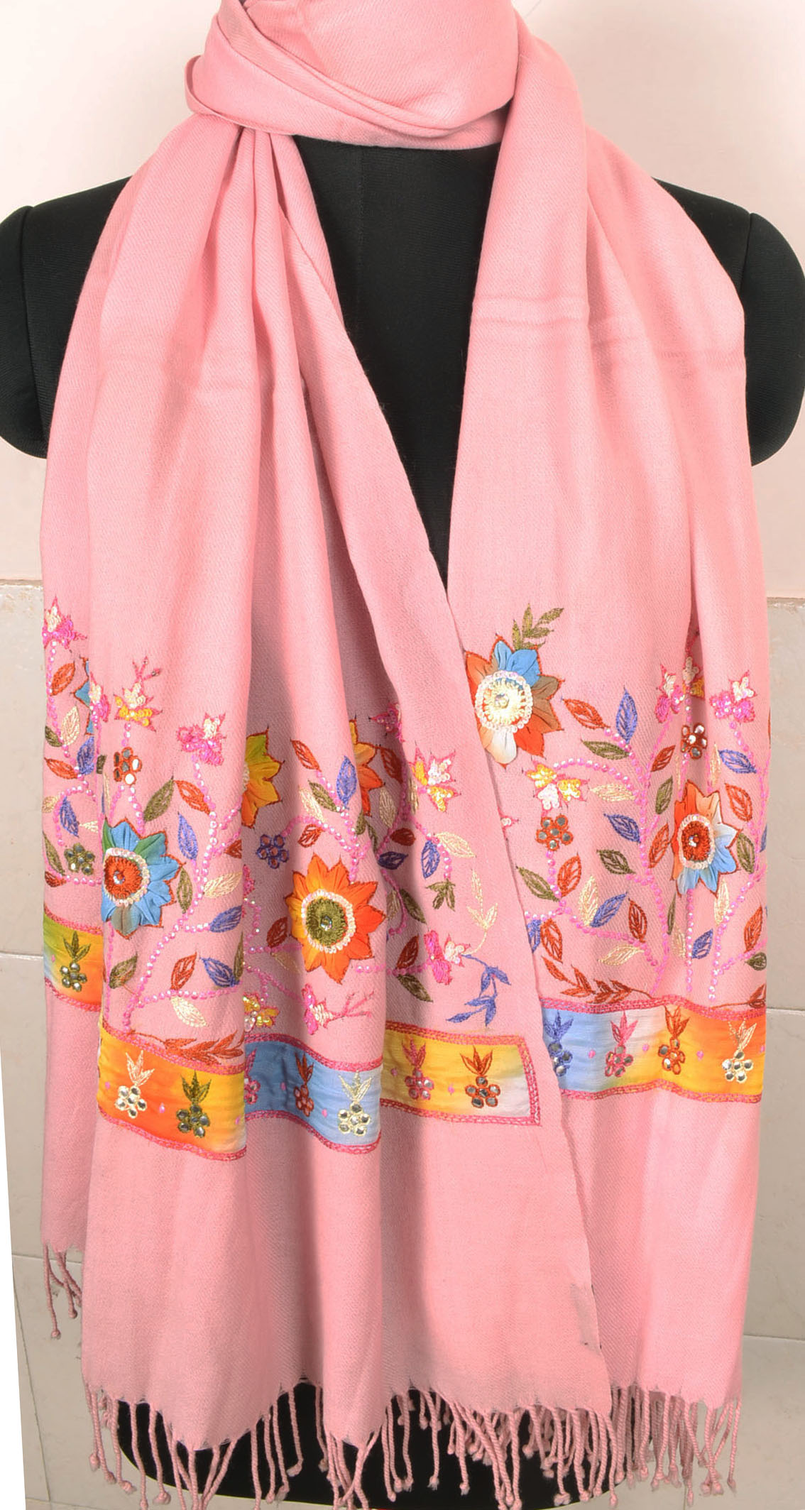 6326b1e89 Beads Embroidered Pashmina - Embroidery Shawls | Stoles | Wraps