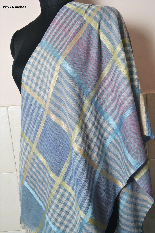 plaid check pashmina 100 cashmere shawl scarf wrap
