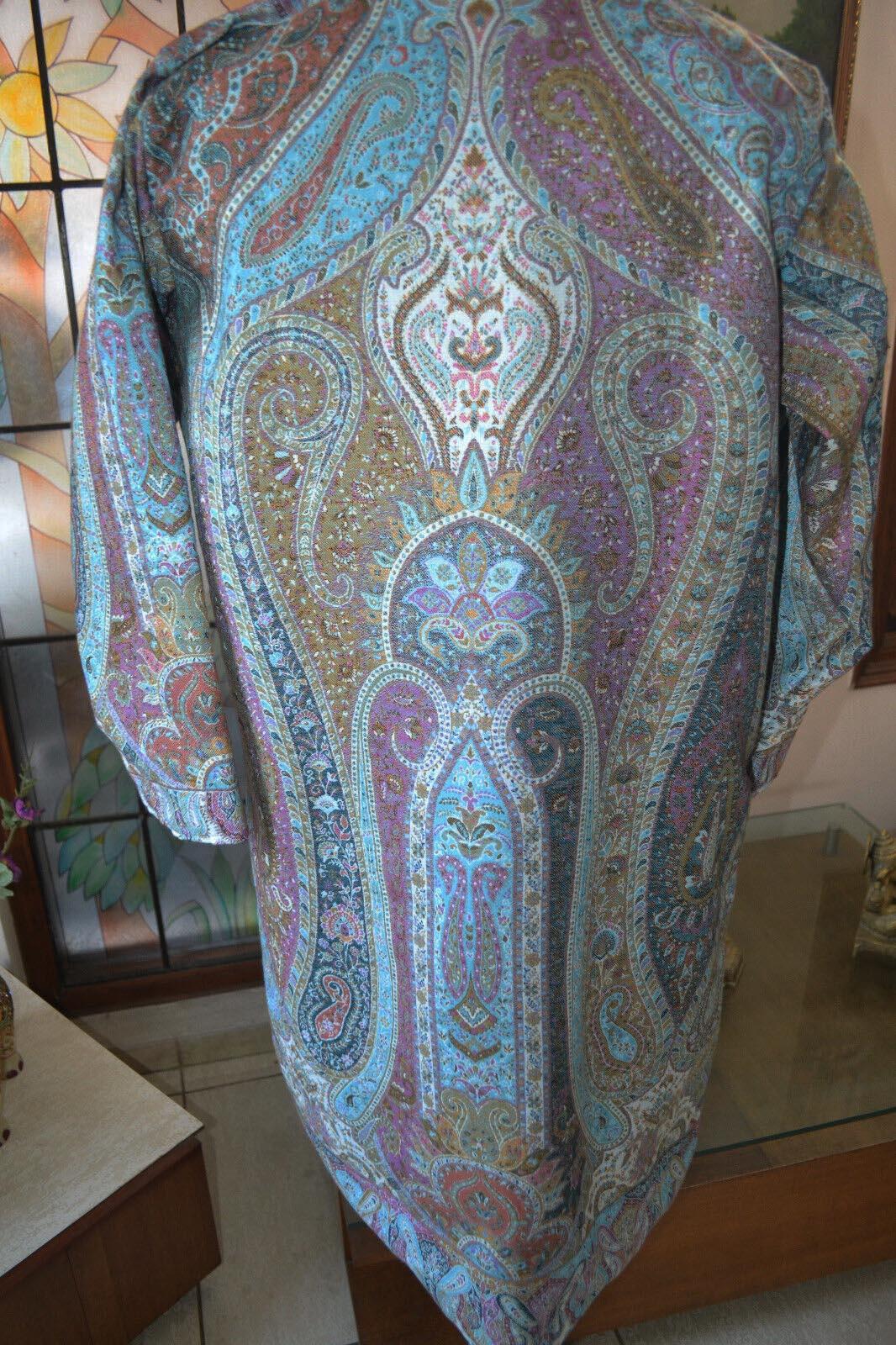 Embroidered Kashmiri Sherwani Long Jacket Coat Pashmina