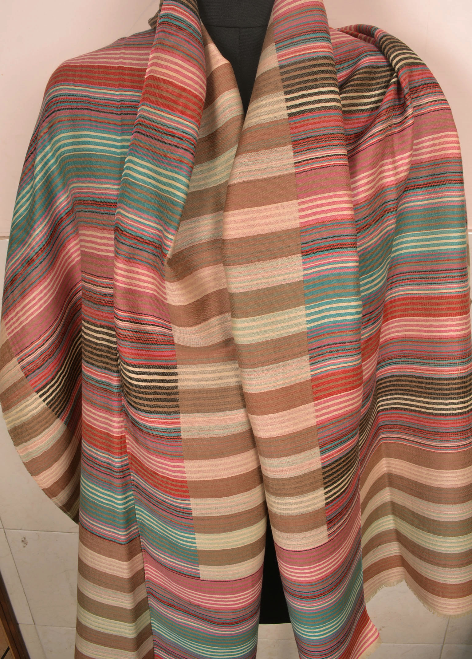 Striped Pashmina Shawl